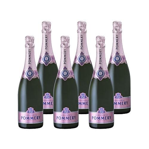 6 BOUTEILLES CHAMPAGNE POMMERY® BRUT ROSE