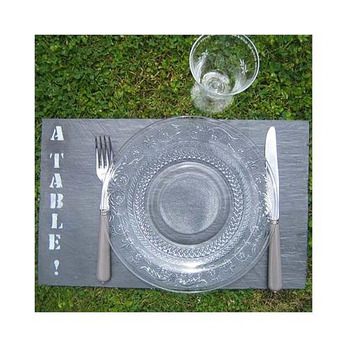 4 SETS DE TABLE EN ARDOISE FABRICATION FRANÇAISE