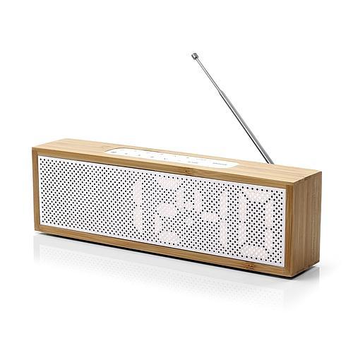 RADIO RÉVEIL AM/FM EN BAMBOU LEXON