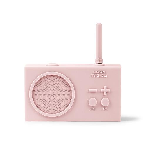 RADIO FM LEXON RECHARGEABLE EN SILICON ROSE POUDRÉ
