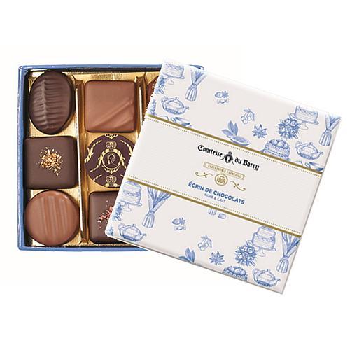 BOÎTE DE 9 CHOCOLATS NOIR & LAIT COMTESSE DU BARRY
