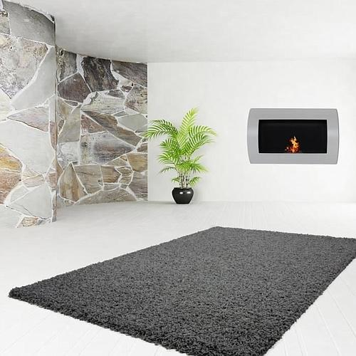 TAPIS MOELLEUX GRIS ANTHRACITE