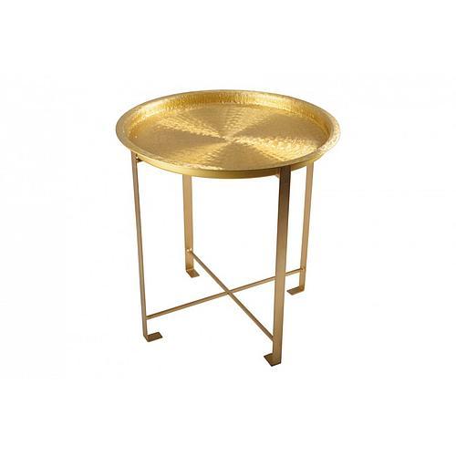 TABLE D'APPOINT EN MÉTAL DORÉ