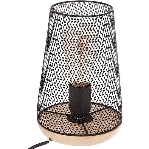 LAMPE EN METAL ET BOIS