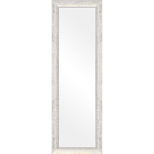 MIROIR BLANC ET OR PEINT A LA MAIN 30x120 cm