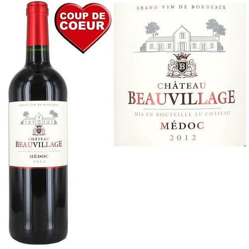 1 BOUTEILLE DE VIN ROUGE BORDEAUX - MEDOC - CHATEAU BEAUVILLAGE 2012
