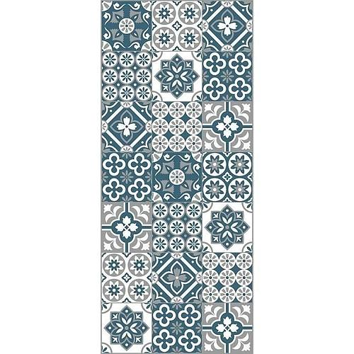 TAPIS  IMITATION CARREAU DE CIMENT - 100 % VINYLE
