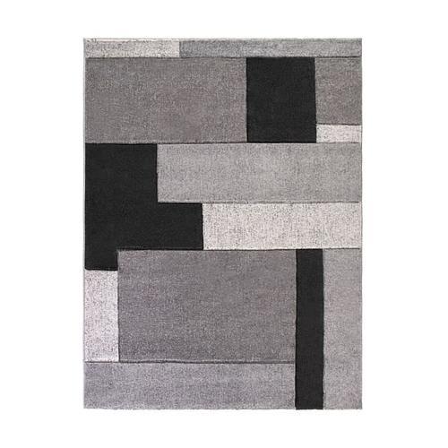 TAPIS FORMES GÉOMÉTRIQUES - GRIS - 200 x 290 cm