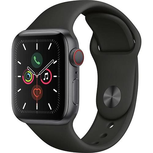 APPLE WATCH SERIES 5 CELLULAR 40 MM - BOÎTIER EN ALUMINIUM GRIS SIDÉRAL - BRACELET SPORT NOIR - S/M