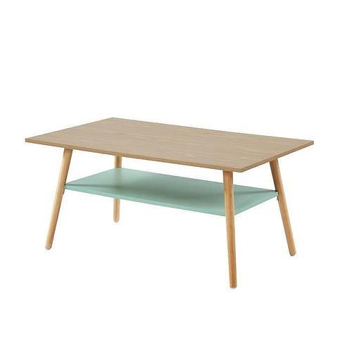 TABLE BASSE AVEC UNE ÉTAGÈRE - STYLE VINTAGE L 100 x P 60 x H 45 cm