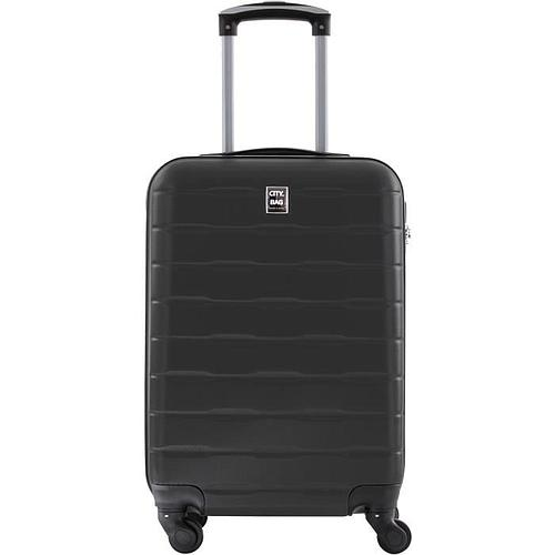 VALISE CABINE ABS - 4 ROUES - GRIS