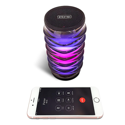 ENCEINTE BLUETOOTH LUMINEUSE - 6 COULEURS