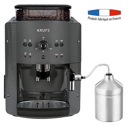 MACHINE À CAFÉ KRUPS AUTOMATIQUE AVEC BROYEUR À GRAINS & MOUSSEUR À LAIT