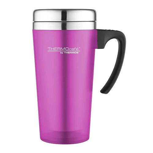 MUG ISOTHERME THERMOS - SOFT TOUCH - 420 ml - ROSE